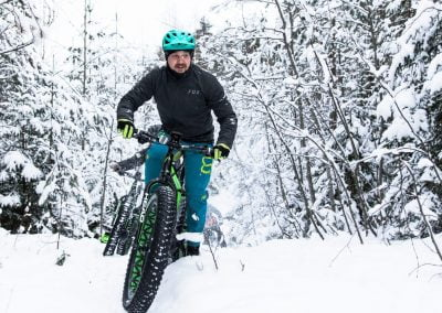 Fatbike parc national Jacques-Cartier