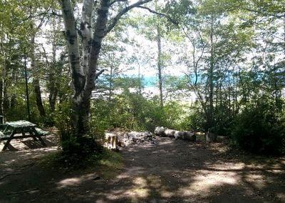 Camping rustique de la Pointe d'Argentenay à l'Île d'Orléans