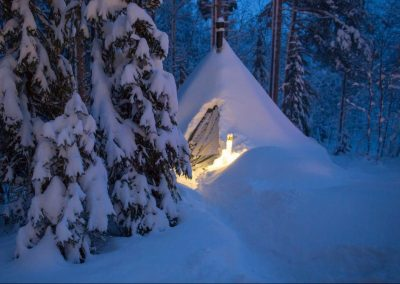 Camping d'hiver Tentipi