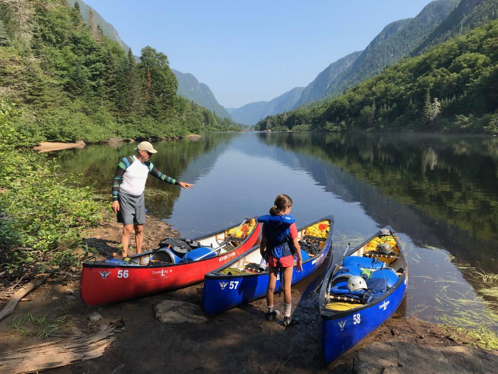 Canot-camping sur la rivière Jacques-Cartier